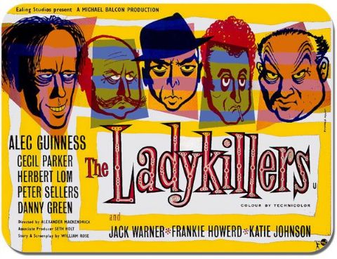 The Lady Killers Movie Mouse Mat. Ealing Studios Movie Film Poster Mouse Pad